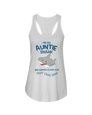I'm an auntie shark who happens to cuss a lot  Ladies Flowy Tank thumbnail