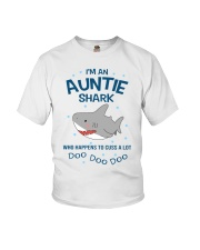 I'm an auntie shark who happens to cuss a lot  Youth T-Shirt thumbnail
