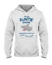 I'm an auntie shark who happens to cuss a lot  Hooded Sweatshirt thumbnail