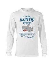I'm an auntie shark who happens to cuss a lot  Long Sleeve Tee thumbnail
