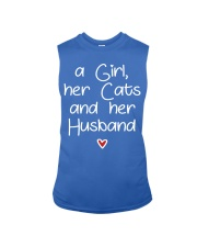 A girl her cats and her husband Sleeveless Tee thumbnail