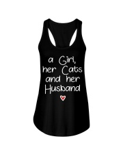 A girl her cats and her husband Ladies Flowy Tank thumbnail