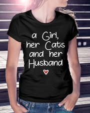 A girl her cats and her husband Ladies T-Shirt lifestyle-women-crewneck-front-7