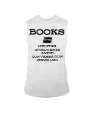 Books helping introverts avoid conversation since  Sleeveless Tee thumbnail