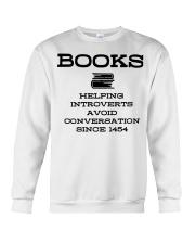 Books helping introverts avoid conversation since  Crewneck Sweatshirt thumbnail