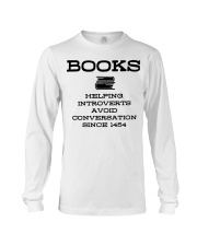 Books helping introverts avoid conversation since  Long Sleeve Tee thumbnail