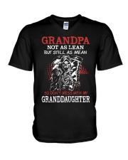 Grandpa not as lean but still as mean so don't mes V-Neck T-Shirt thumbnail
