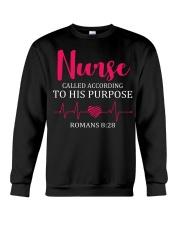 Nurse beat called according to his purpose Crewneck Sweatshirt thumbnail