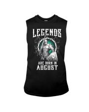 Viking Legend are born in August Sleeveless Tee thumbnail