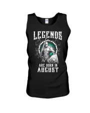 Viking Legend are born in August Unisex Tank thumbnail