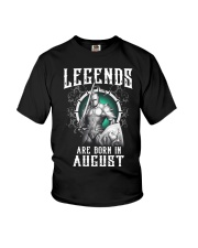 Viking Legend are born in August Youth T-Shirt thumbnail