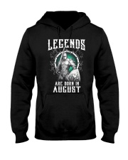 Viking Legend are born in August Hooded Sweatshirt thumbnail