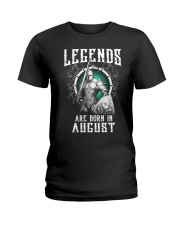 Viking Legend are born in August Ladies T-Shirt thumbnail