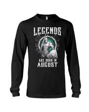 Viking Legend are born in August Long Sleeve Tee thumbnail