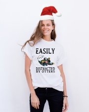 Easily distracted by otters Classic T-Shirt lifestyle-holiday-crewneck-front-1