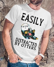 Easily distracted by otters Classic T-Shirt lifestyle-mens-crewneck-front-4