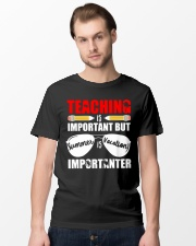 Teaching is important but summer is vacation Classic T-Shirt lifestyle-mens-crewneck-front-15