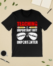 Teaching is important but summer is vacation Classic T-Shirt lifestyle-mens-crewneck-front-19