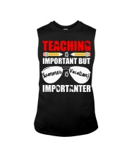 Teaching is important but summer is vacation Sleeveless Tee thumbnail