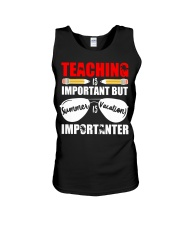 Teaching is important but summer is vacation Unisex Tank thumbnail