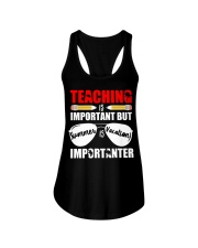 Teaching is important but summer is vacation Ladies Flowy Tank thumbnail