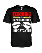 Teaching is important but summer is vacation V-Neck T-Shirt thumbnail