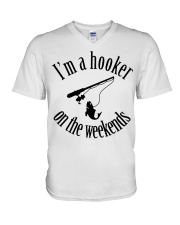 I'm a hooker on the weekends  V-Neck T-Shirt thumbnail