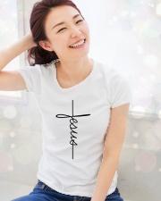 Jesus Vertical Ladies T-Shirt lifestyle-holiday-womenscrewneck-front-1