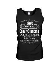 100 crazy grandma love me or hate me Unisex Tank thumbnail