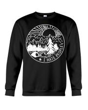 I hate people camping Crewneck Sweatshirt thumbnail