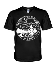 I hate people camping V-Neck T-Shirt thumbnail