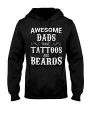 Awesome Dads have tattoos and beards Hooded Sweatshirt thumbnail