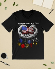No one fights alone Usa Flag shirt Classic T-Shirt lifestyle-mens-crewneck-front-19