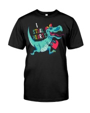 Valentines day dinosaur I steal hearts Premium Fit Mens Tee thumbnail