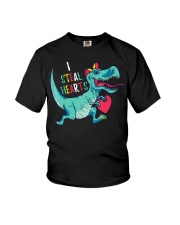 Valentines day dinosaur I steal hearts Youth T-Shirt thumbnail