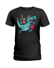 Valentines day dinosaur I steal hearts Ladies T-Shirt thumbnail
