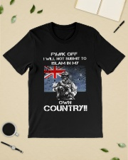 Fuck off I will not submit to islam in my own coun Premium Fit Mens Tee lifestyle-mens-crewneck-front-19