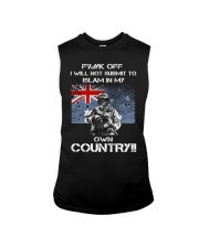 Fuck off I will not submit to islam in my own coun Sleeveless Tee thumbnail