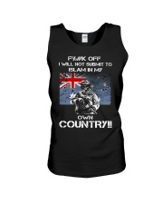 Fuck off I will not submit to islam in my own coun Unisex Tank thumbnail