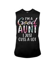 I'm a good aunt I just cuss a lot Sleeveless Tee thumbnail