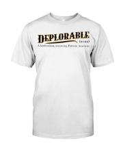 Deplorable definition Premium Fit Mens Tee front
