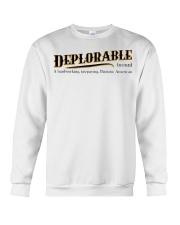 Deplorable definition Crewneck Sweatshirt thumbnail