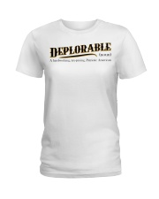 Deplorable definition Ladies T-Shirt thumbnail