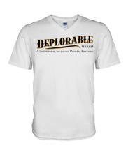 Deplorable definition V-Neck T-Shirt thumbnail