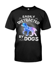 Easily distracted by Australian Shepherd dog  Premium Fit Mens Tee thumbnail