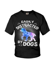 Easily distracted by Australian Shepherd dog  Youth T-Shirt tile