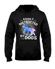 Easily distracted by Australian Shepherd dog  Hooded Sweatshirt tile