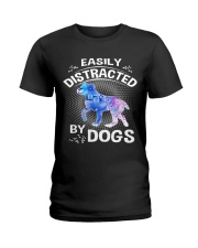 Easily distracted by Australian Shepherd dog  Ladies T-Shirt thumbnail