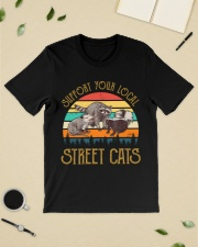 Vintage support your local street cats Premium Fit Mens Tee lifestyle-mens-crewneck-front-19