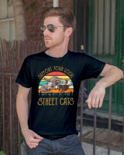 Vintage support your local street cats Premium Fit Mens Tee lifestyle-mens-crewneck-front-2
